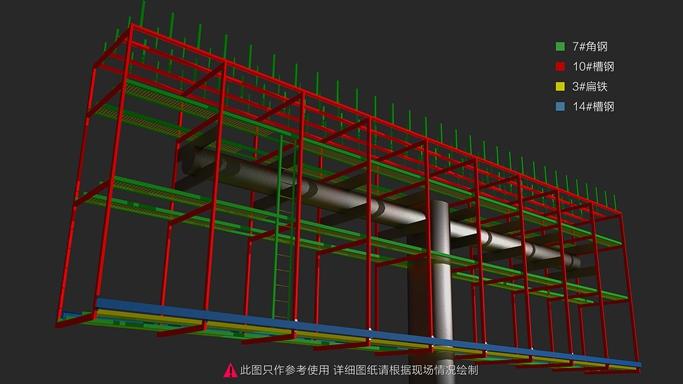 金达诺两面翻显示屏立柱钢架结构图